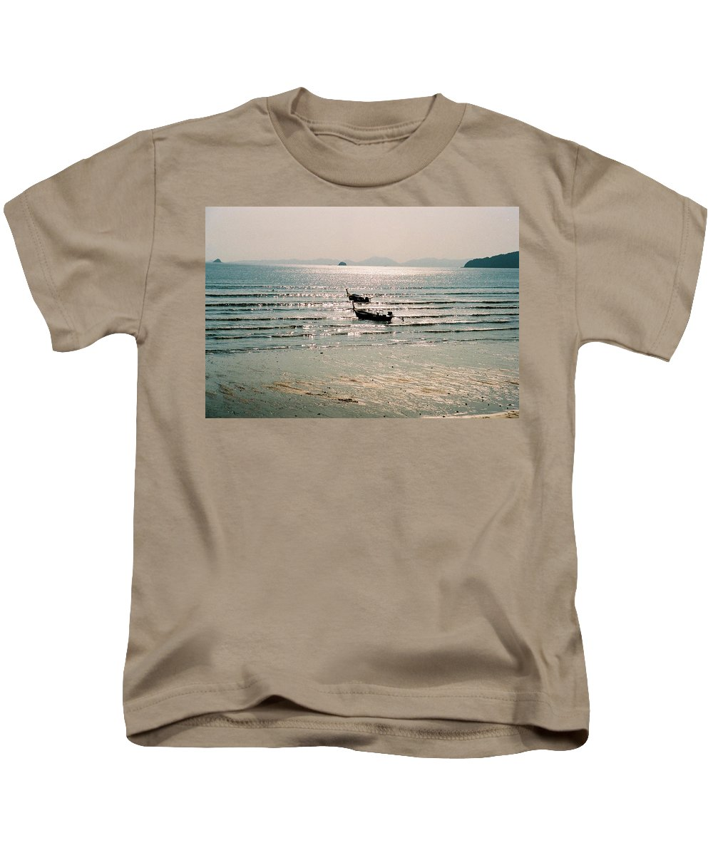 Sea Kids T-Shirt featuring the photograph Sunset At Krabi by Mary Rogers