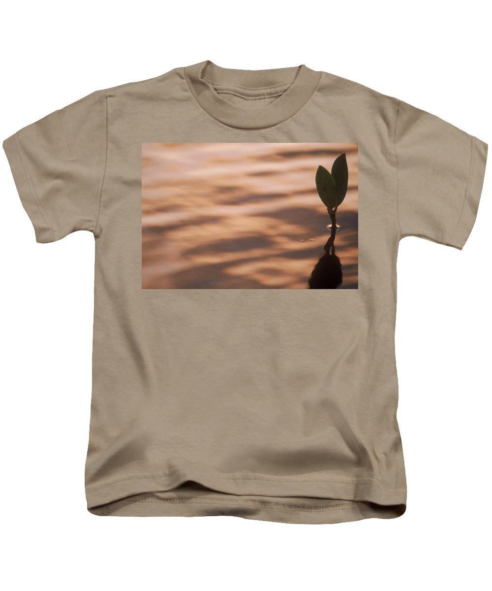 Nature Kids T-Shirt featuring the photograph Surfacing Mangrove by Kimberly Mohlenhoff