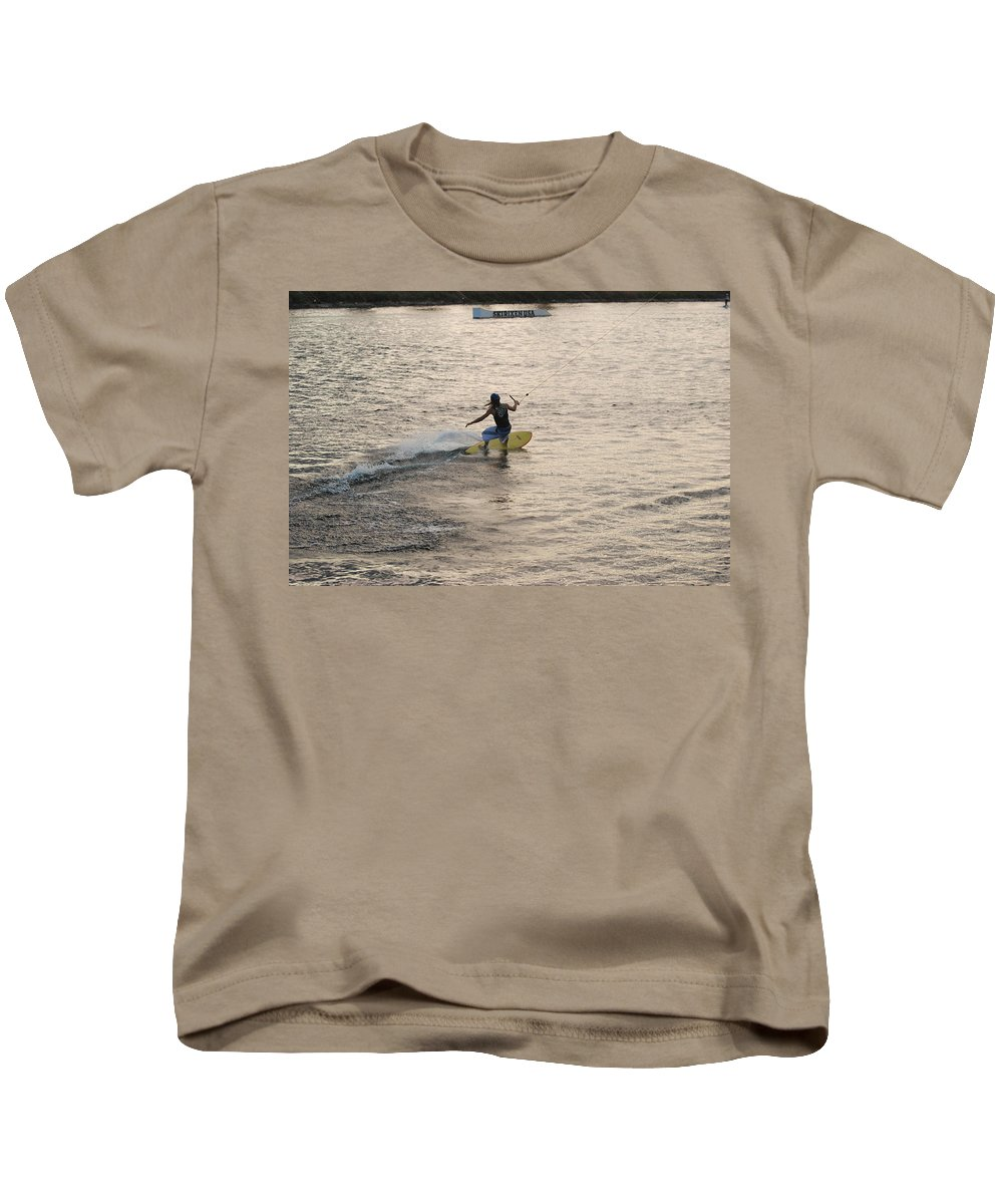 Sun Kids T-Shirt featuring the photograph Surfing by Rob Hans