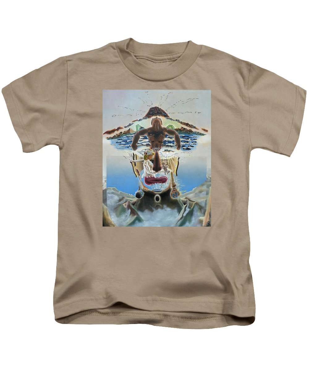 Surreal Kids T-Shirt featuring the painting Surreal Memories by Dave Martsolf