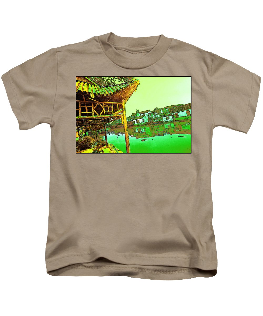 Cityscape Kids T-Shirt featuring the photograph Suzhou Grand Canal by Steven Hlavac