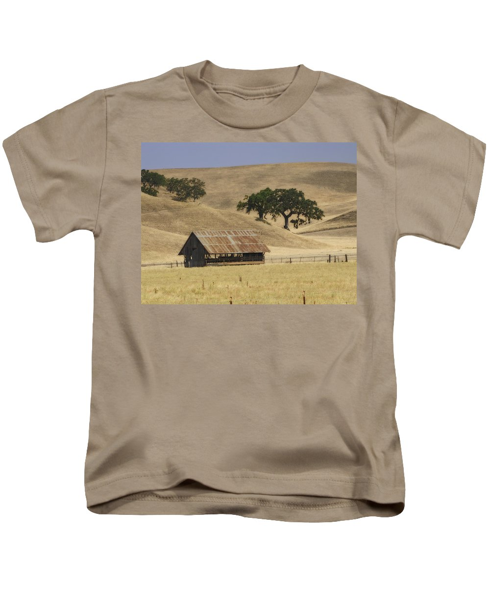 Landscapes Kids T-Shirt featuring the photograph Tassajara Road by Karen W Meyer