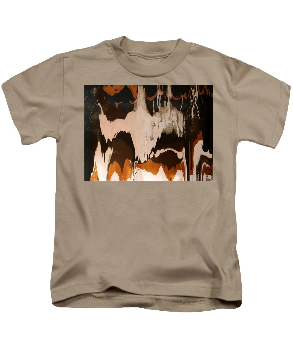 Abstract Kids T-Shirt featuring the painting Taunting by Carole Sluski
