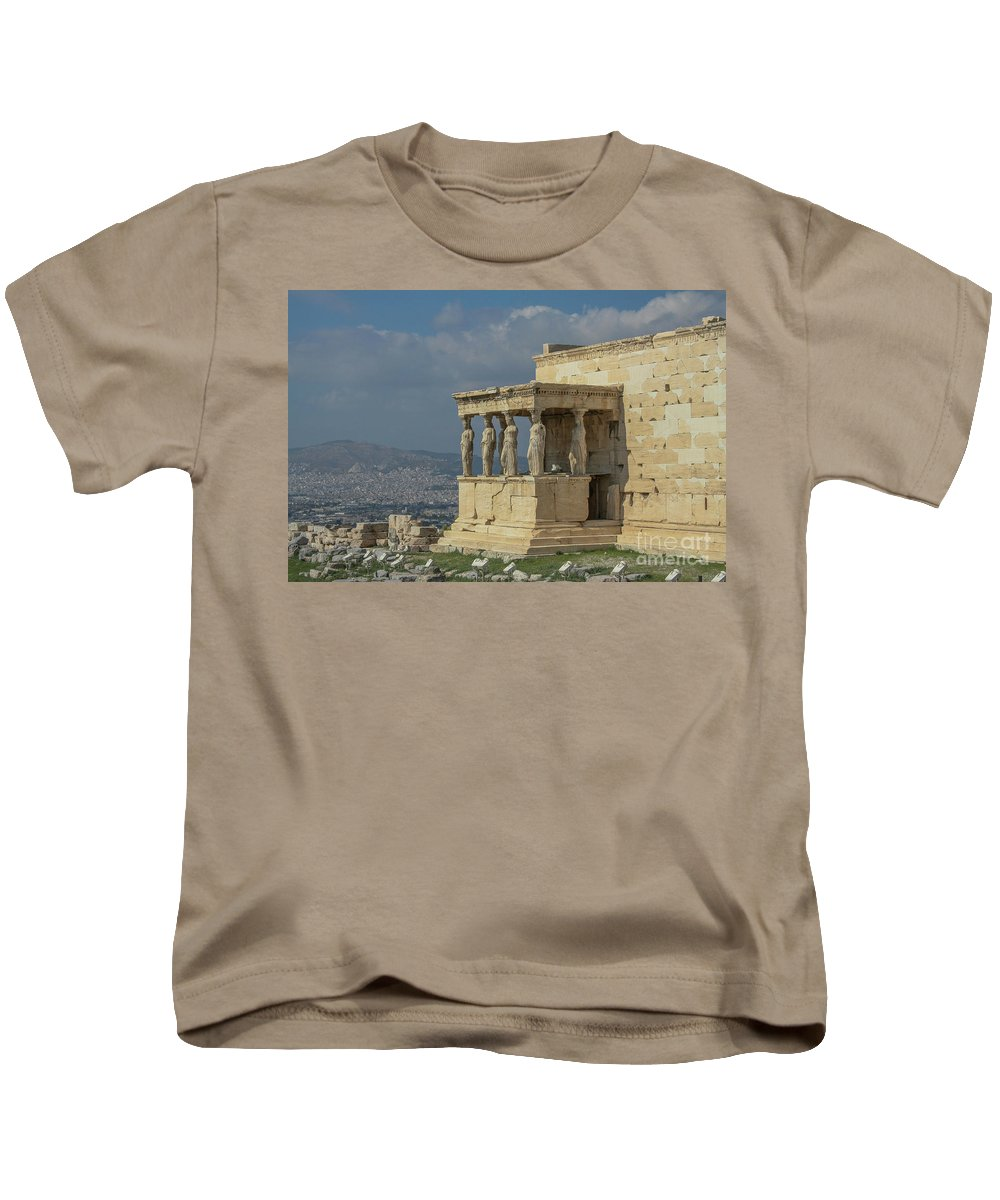 Greece Kids T-Shirt featuring the photograph Temple Of Athena by Mary Kay Bellinger