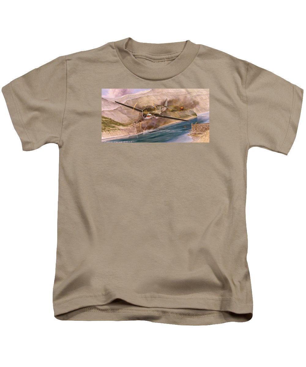 Painting Kids T-Shirt featuring the painting Tex Hill Over The Salween Gorge by Marc Stewart