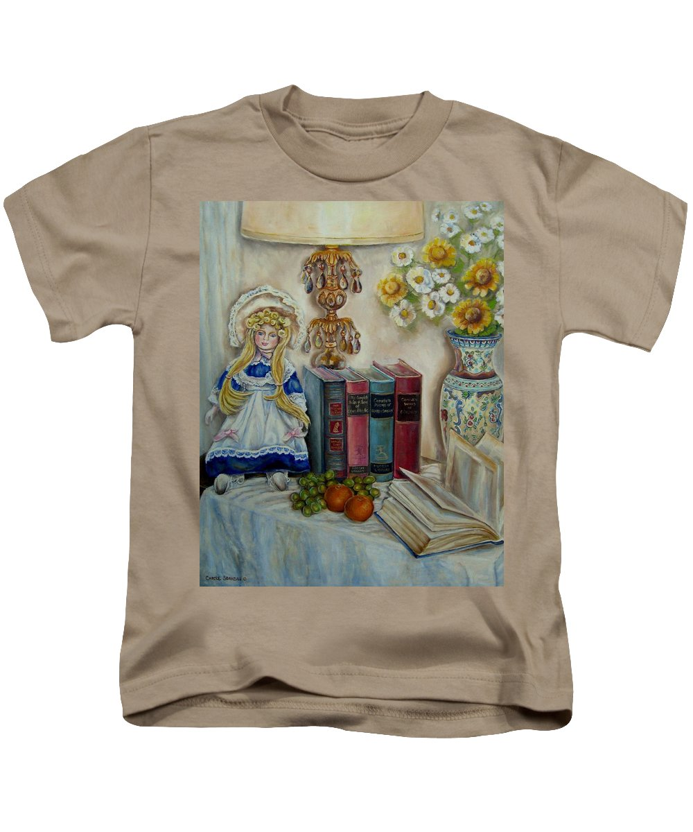 The Beatitudes Kids T-Shirt featuring the painting The Beatitudes by Carole Spandau