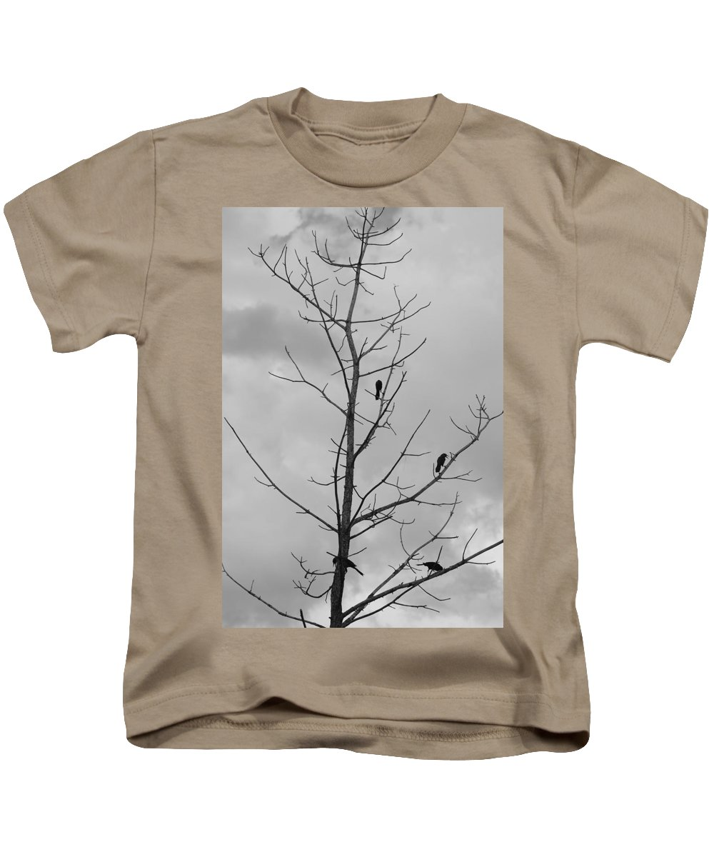 Tree Kids T-Shirt featuring the photograph The Birds by Rob Hans