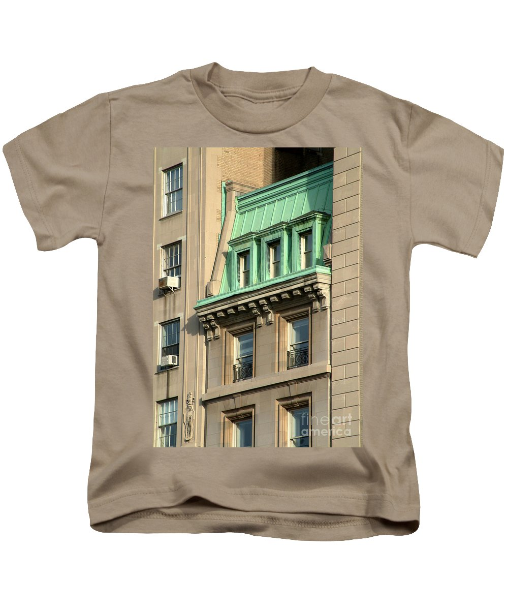 Apartments Kids T-Shirt featuring the photograph The Copper Attic by RC DeWinter