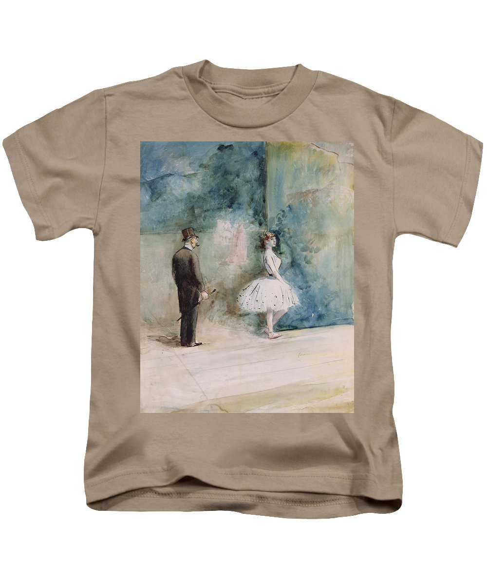 The Kids T-Shirt featuring the drawing The Dancer by Jean Louis Forain