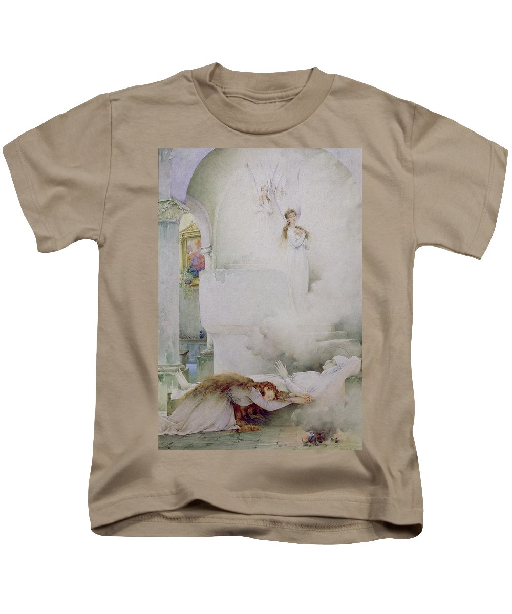 The Kids T-Shirt featuring the painting The Death Of The Virgin by Guillaume Dubufe