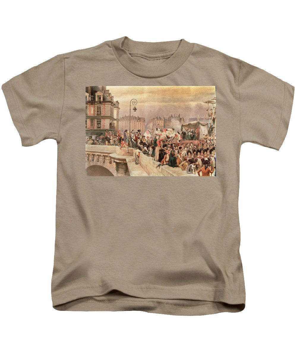 The Kids T-Shirt featuring the painting The Departure Of The Volunteers 1792 by Jean Baptiste Edouard Detaille