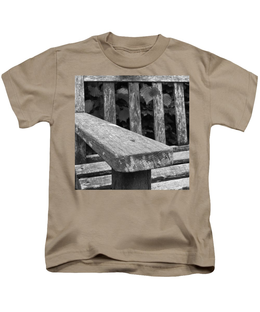 Bench Kids T-Shirt featuring the photograph The Garden Bench by Agent Green Exposed