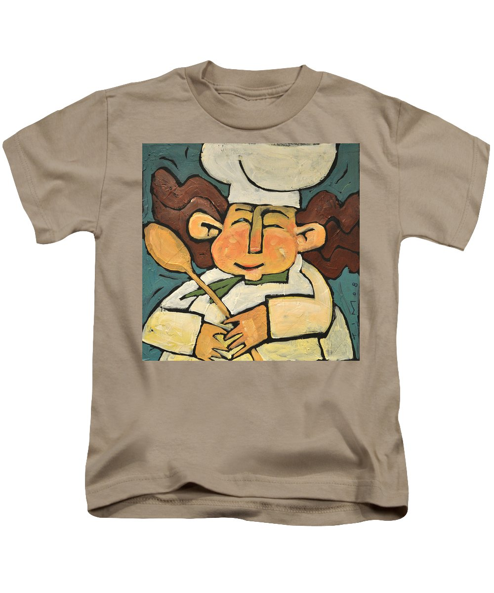 Chef Kids T-Shirt featuring the painting The Happy Chef by Tim Nyberg