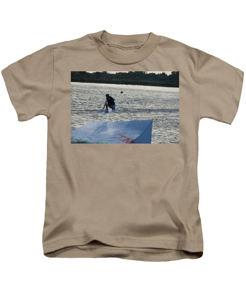 Water Kids T-Shirt featuring the photograph The Jump by Rob Hans