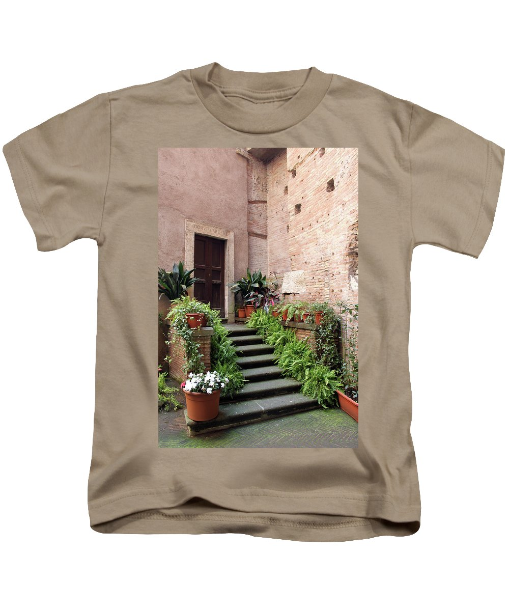 Door Kids T-Shirt featuring the photograph The Main Entrance by Munir Alawi