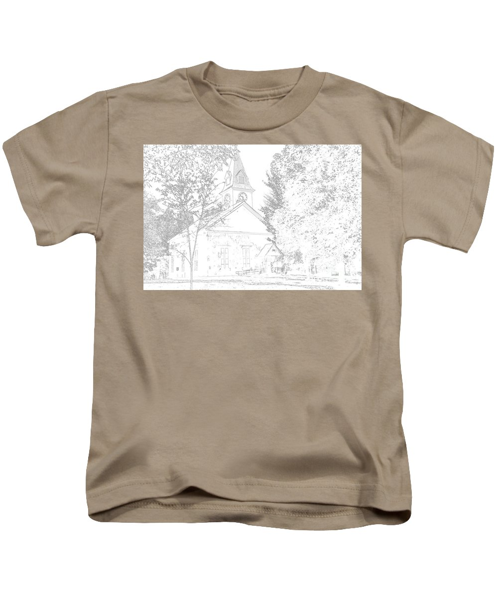 Beautiful Kids T-Shirt featuring the photograph The Meeting House by George Scheller