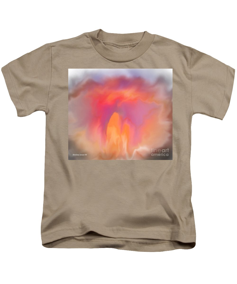 Computer Art Kids T-Shirt featuring the digital art The Meeting Place by Shelley Jones