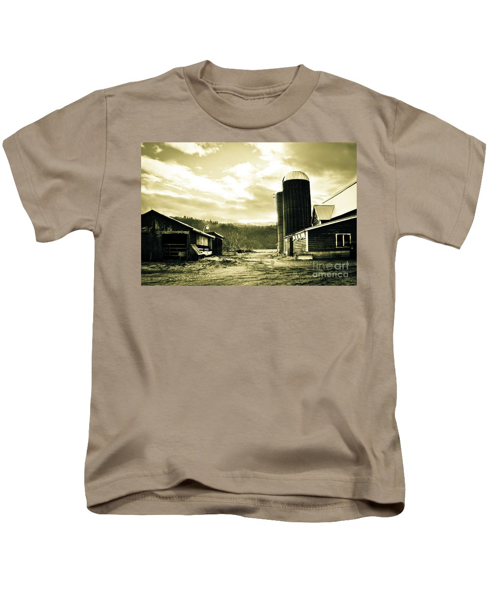 Art Kids T-Shirt featuring the photograph The Old Farm by Clayton Bruster