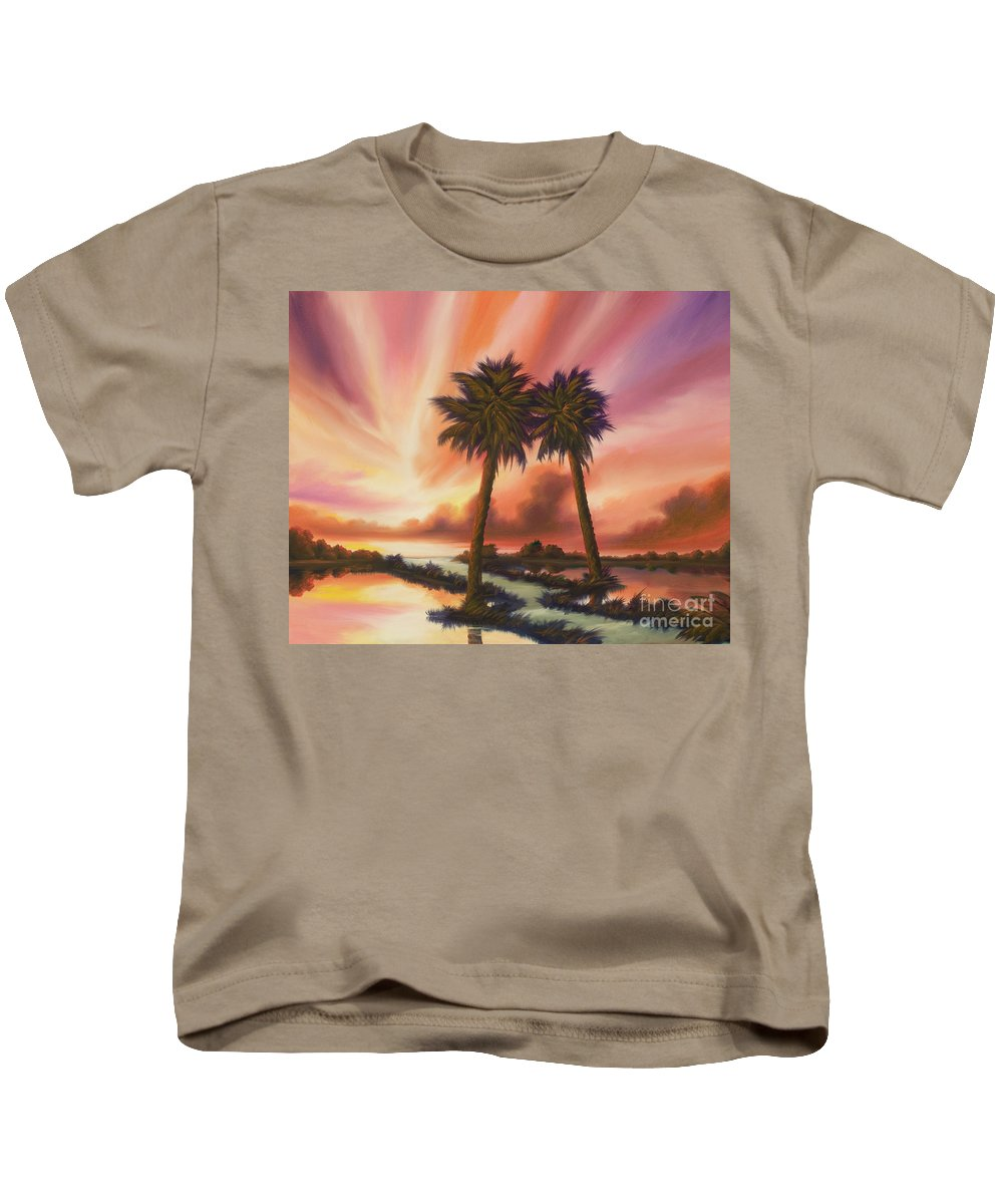 Skyscape Kids T-Shirt featuring the painting The Path Ahead by James Christopher Hill