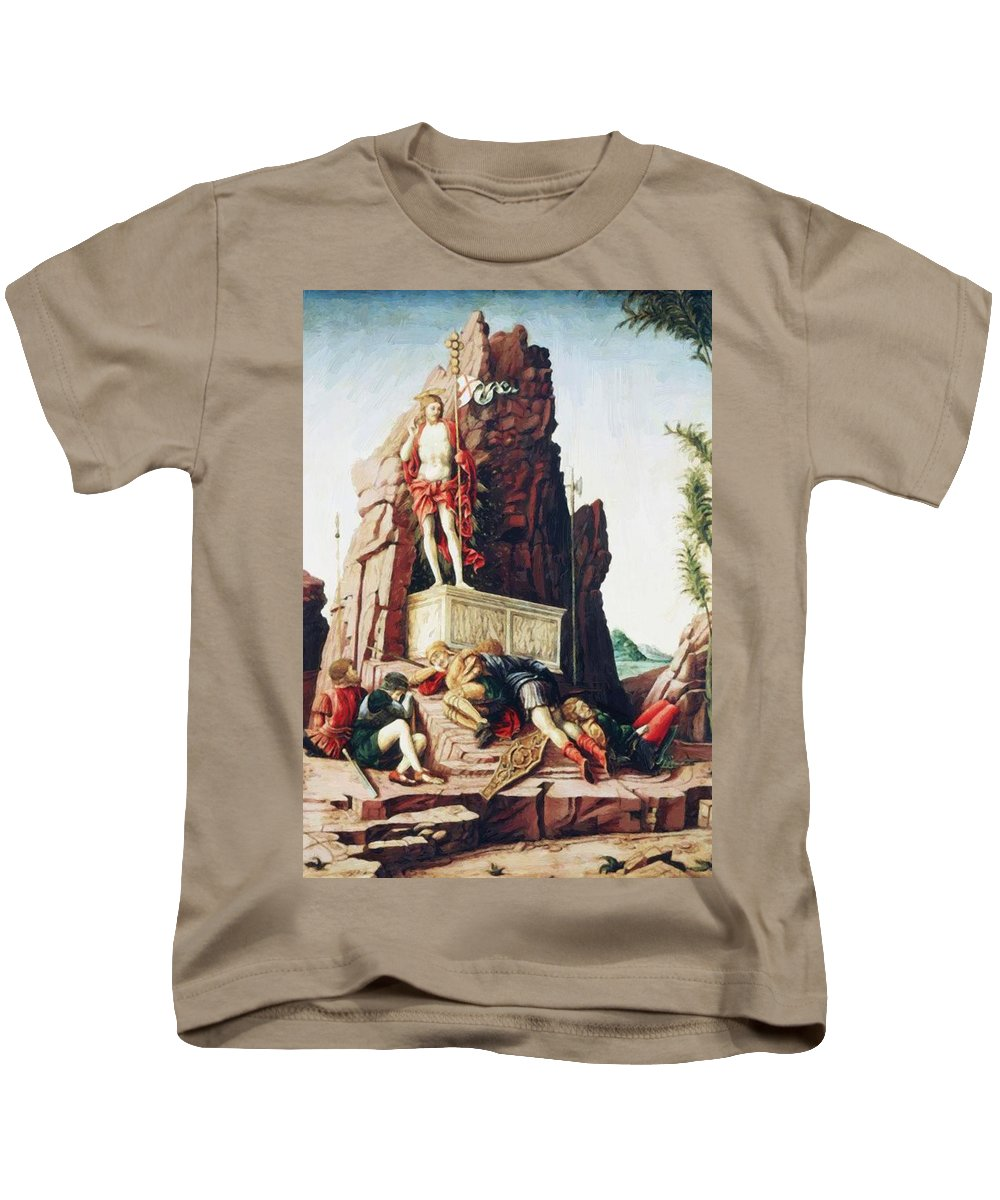 The Kids T-Shirt featuring the painting The Resurrection by Mantegna Andrea