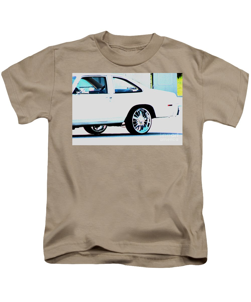 Car Kids T-Shirt featuring the photograph The Ride by Amanda Barcon