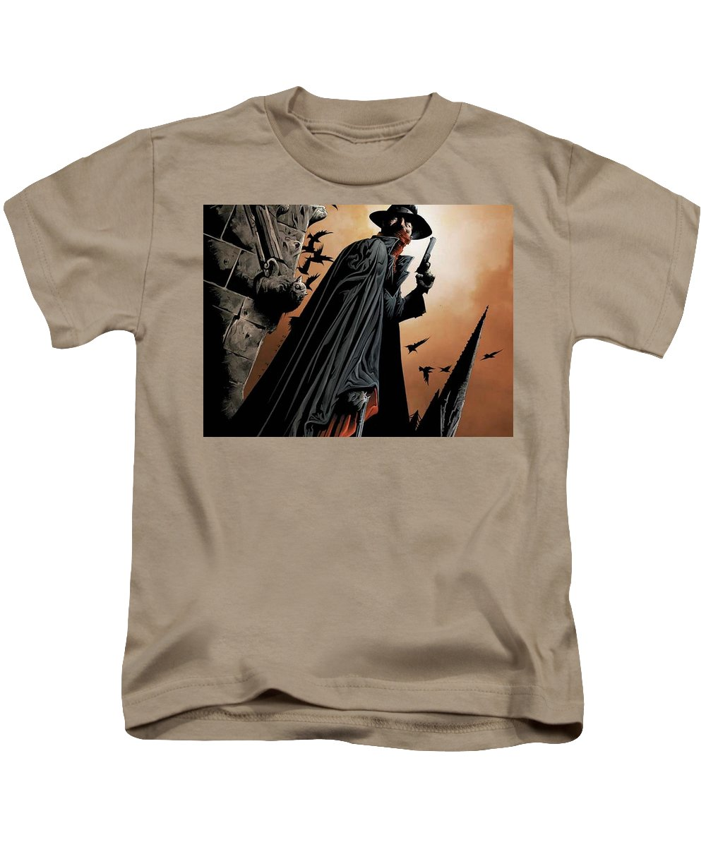 The Shadow Kids T-Shirt featuring the digital art The Shadow by Dorothy Binder