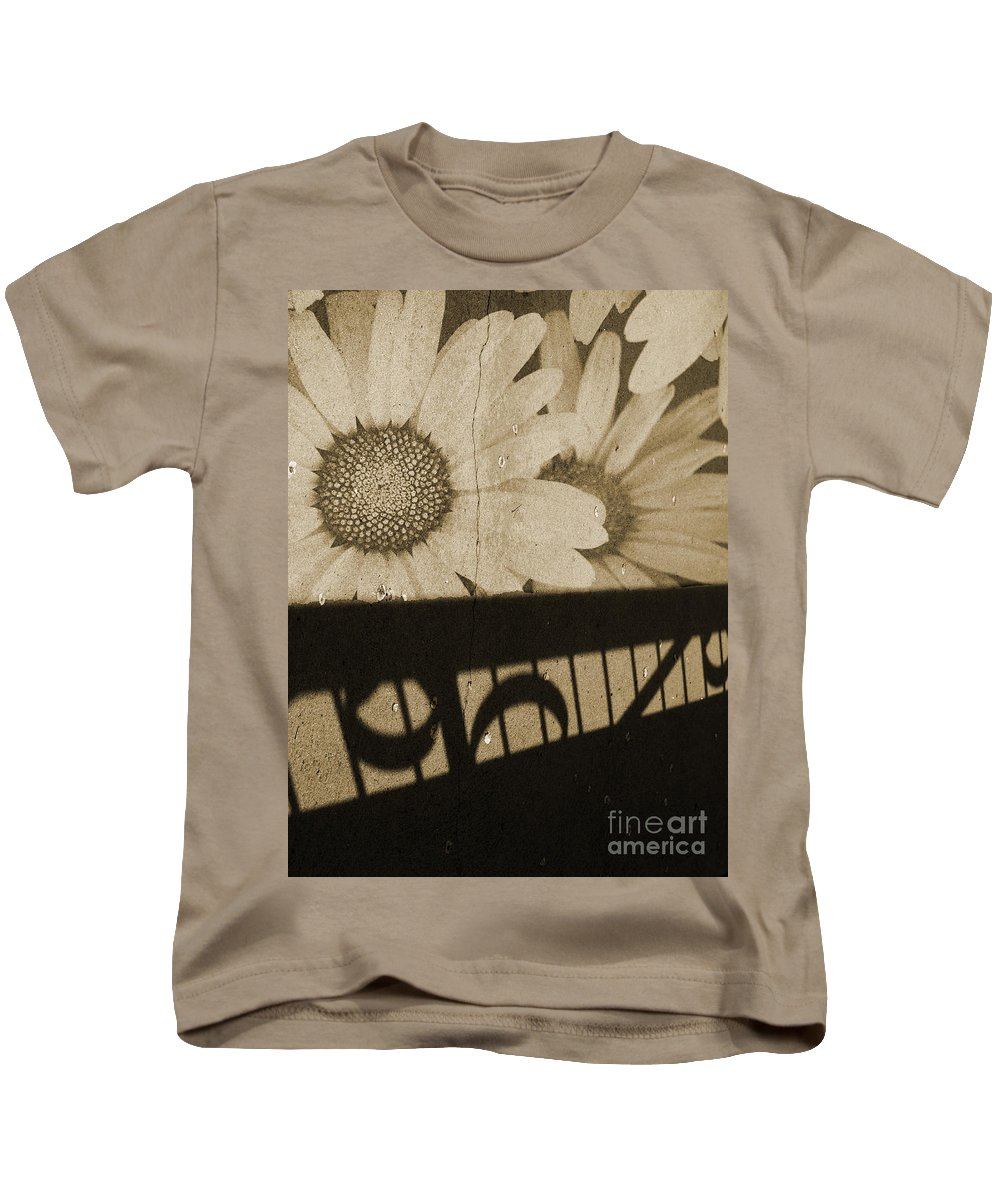 Flowers Kids T-Shirt featuring the photograph The Shadow Flowers by Tara Turner