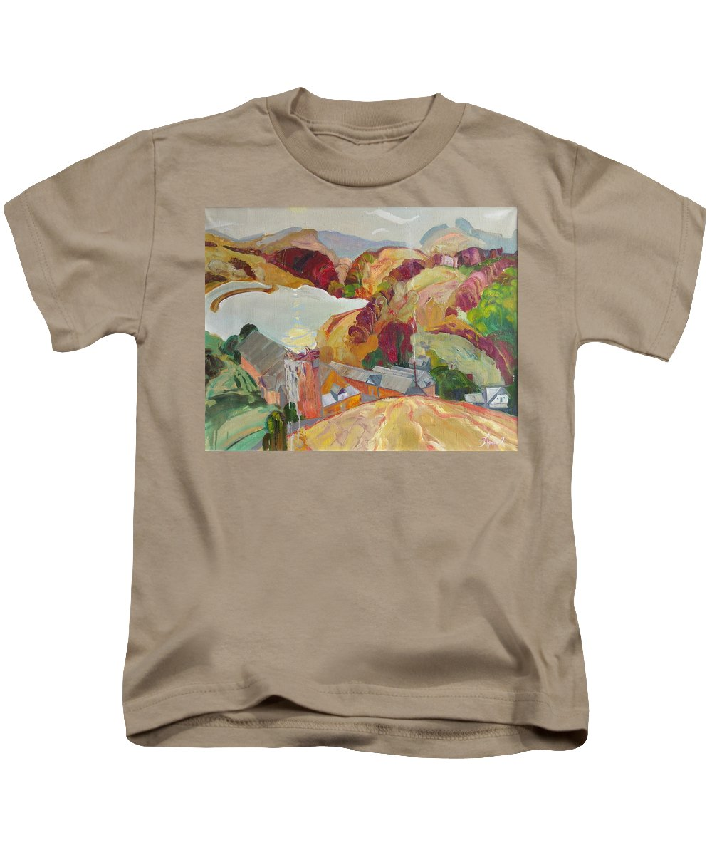 Oil Kids T-Shirt featuring the painting The Slovechansk Edge by Sergey Ignatenko