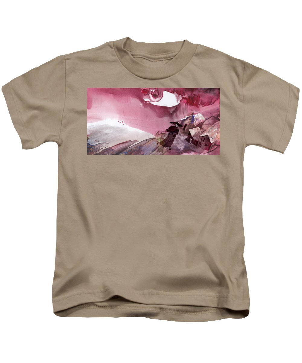Fantasy. Japan Kids T-Shirt featuring the painting The Tears Of Mont Fuji by Miki De Goodaboom