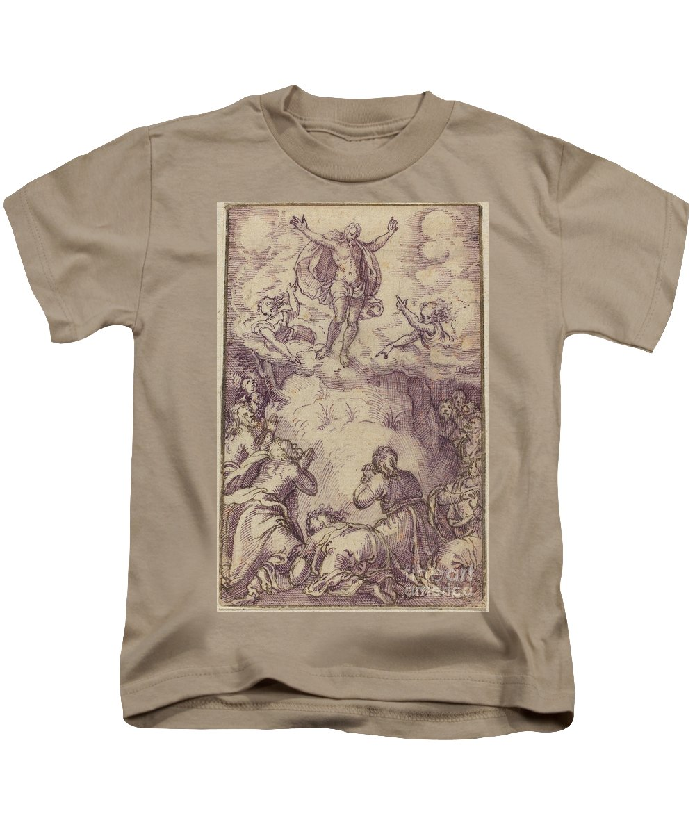 Kids T-Shirt featuring the painting The Transfiguration by Virgil Solis