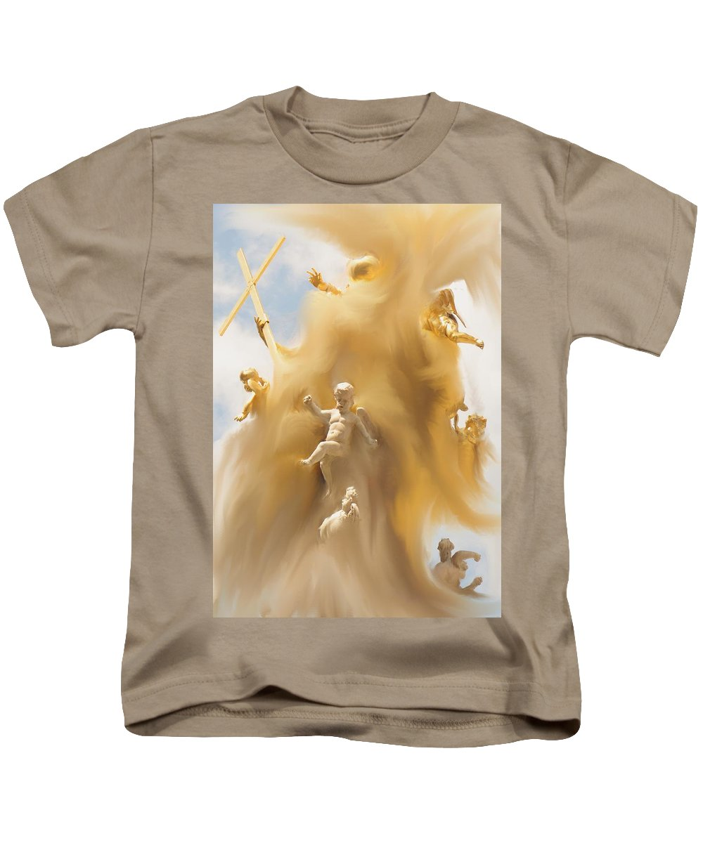 Religion Kids T-Shirt featuring the digital art The Whirlwind by Ian MacDonald