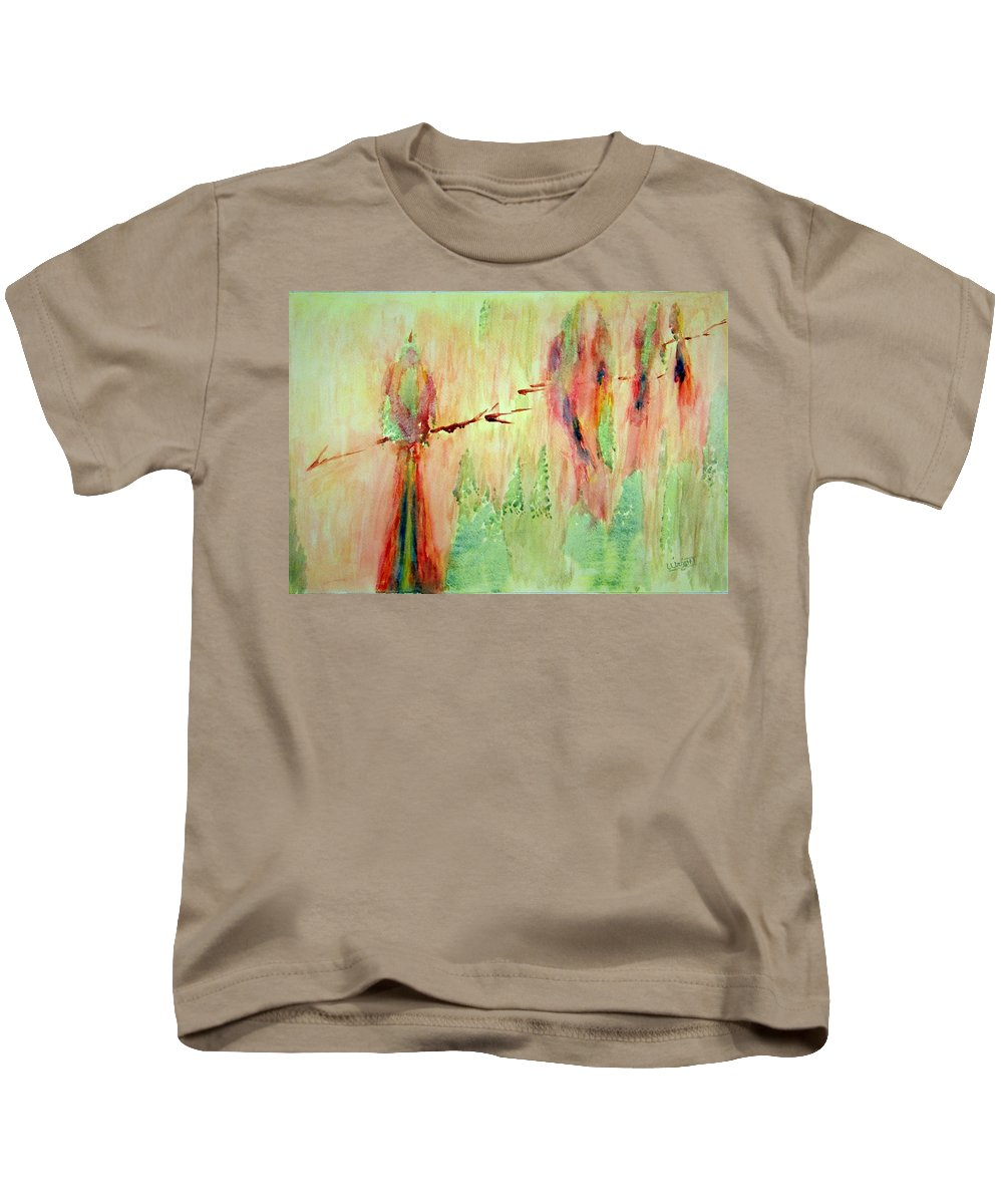 Abstract Art Kids T-Shirt featuring the painting This Must Be A Dream by Larry Wright