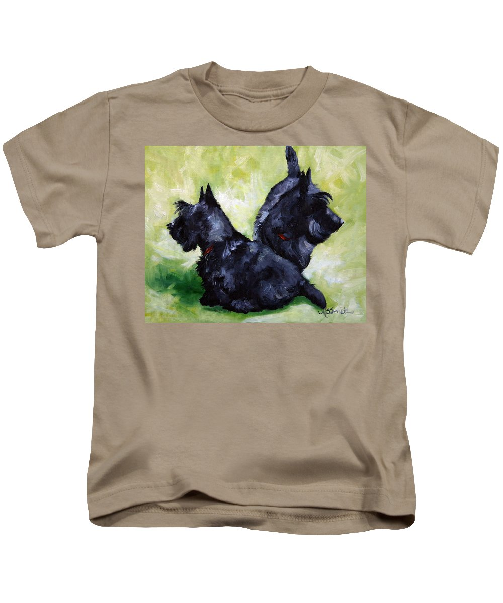 Art Kids T-Shirt featuring the painting This Way Or That by Mary Sparrow