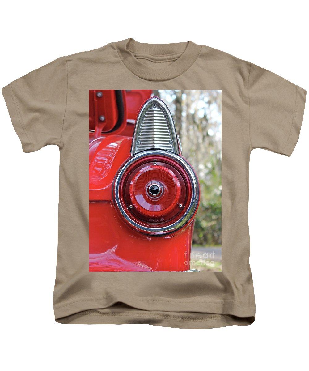 Cars Thunderbird Vintage Cars Automobile Kids T-Shirt featuring the photograph Thunderbird by Christopher Stark