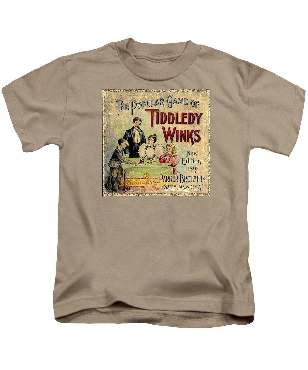 Tiddledy Winks Kids T-Shirt featuring the digital art Tiddledy Winks by Newwwman
