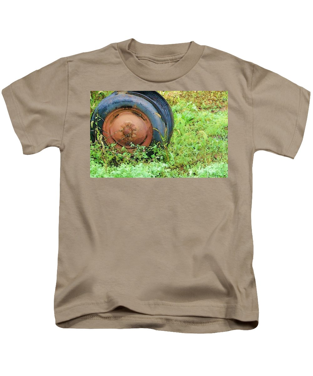 Tire Kids T-Shirt featuring the photograph Tired by Debbi Granruth