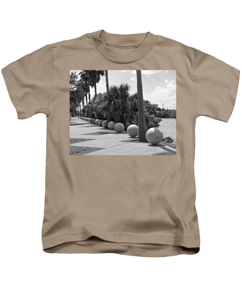 Florida; Titusville; Space; Coast; Astronauts; Astronaut; Cape; Canaveral; Mercury; Project; Freedom Kids T-Shirt featuring the photograph Titusville On The Indian River Lagoon In Florida by Allan Hughes