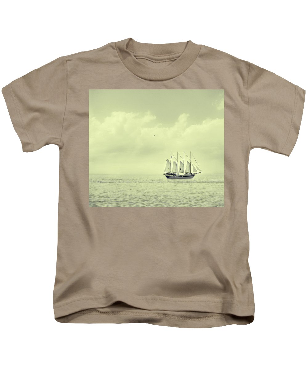 Ship Kids T-Shirt featuring the photograph To Hold Time In Your Hand by Dana DiPasquale