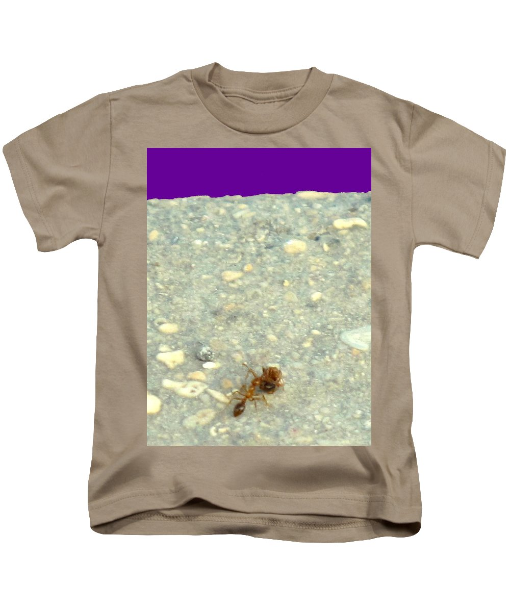 Ant Kids T-Shirt featuring the photograph To The Edge by Ian MacDonald