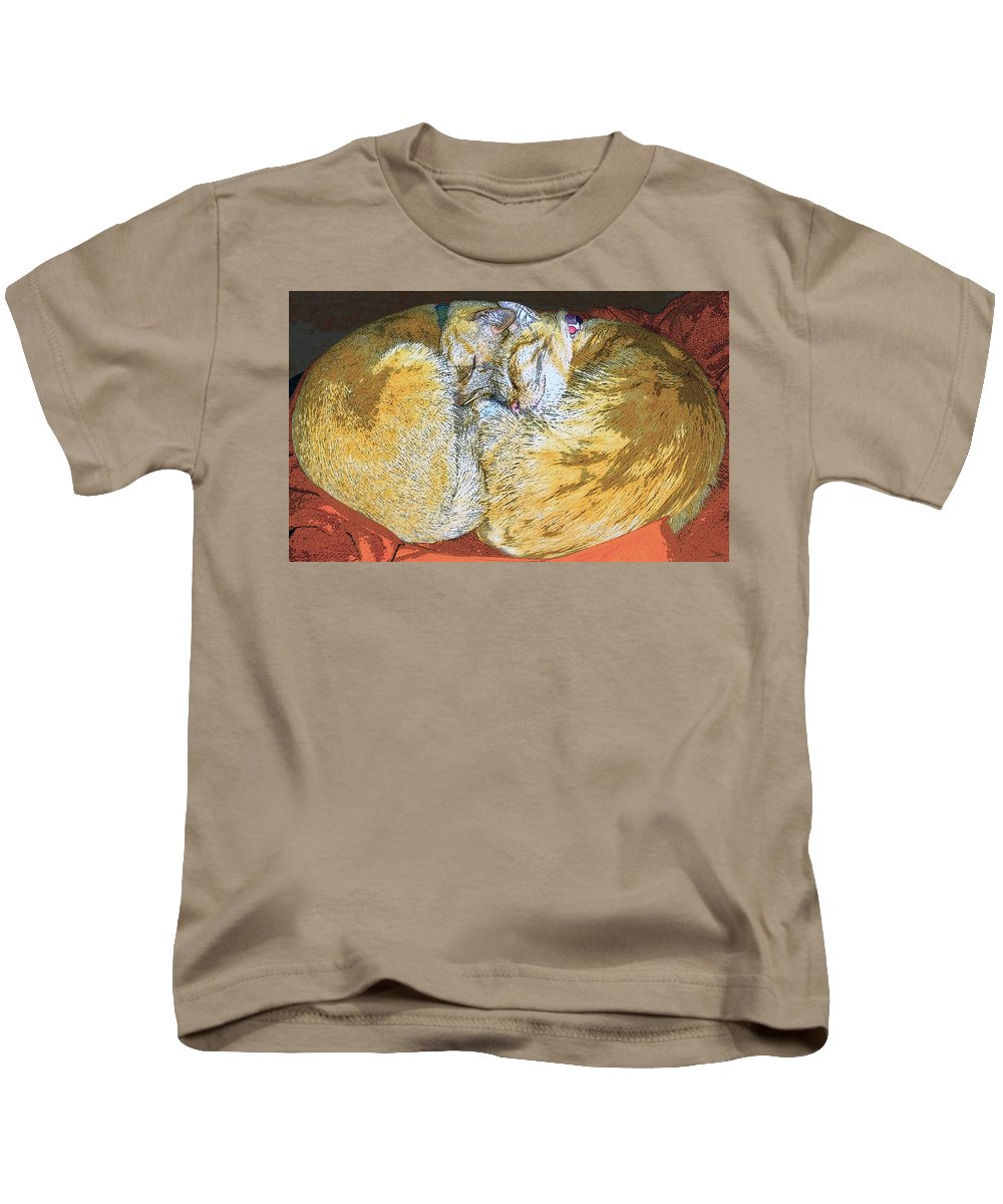 Artwork Kids T-Shirt featuring the painting Together Forever by David Lee Thompson