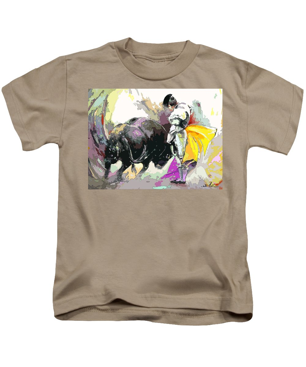 Animals Kids T-Shirt featuring the painting Toroscape 39 by Miki De Goodaboom