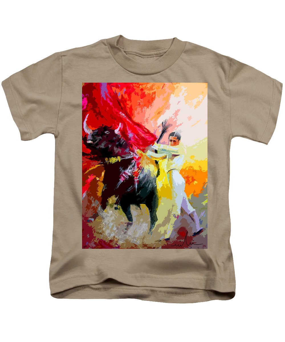 Animals Kids T-Shirt featuring the painting Toroscape 41 by Miki De Goodaboom