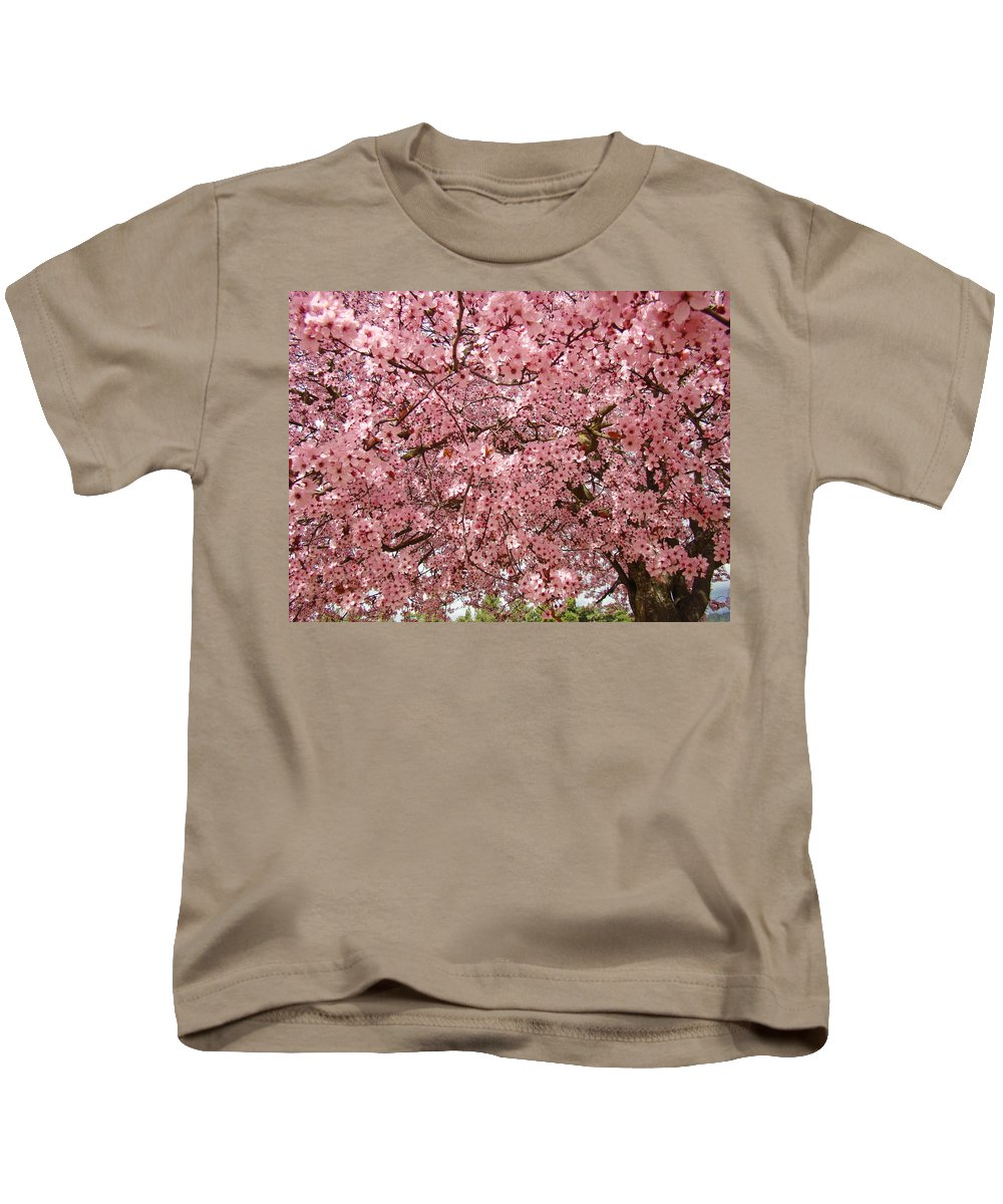 Tree Kids T-Shirt featuring the photograph Tree Blossoms Pink Blossoms Art Prints Giclee Flower Landscape Artwork by Baslee Troutman