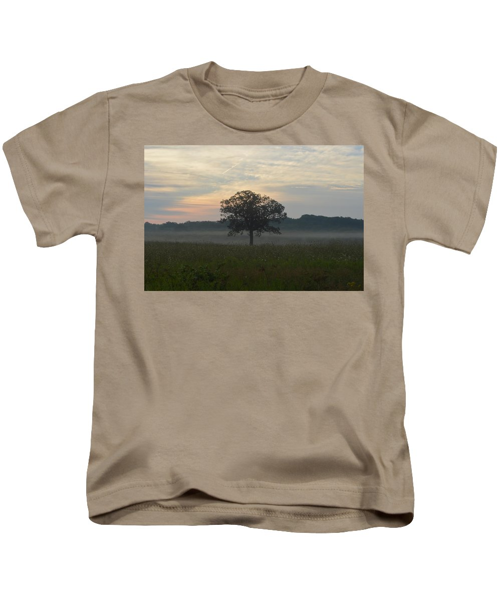 Tree Kids T-Shirt featuring the photograph Tree In The Mist by Sharmila Taylor