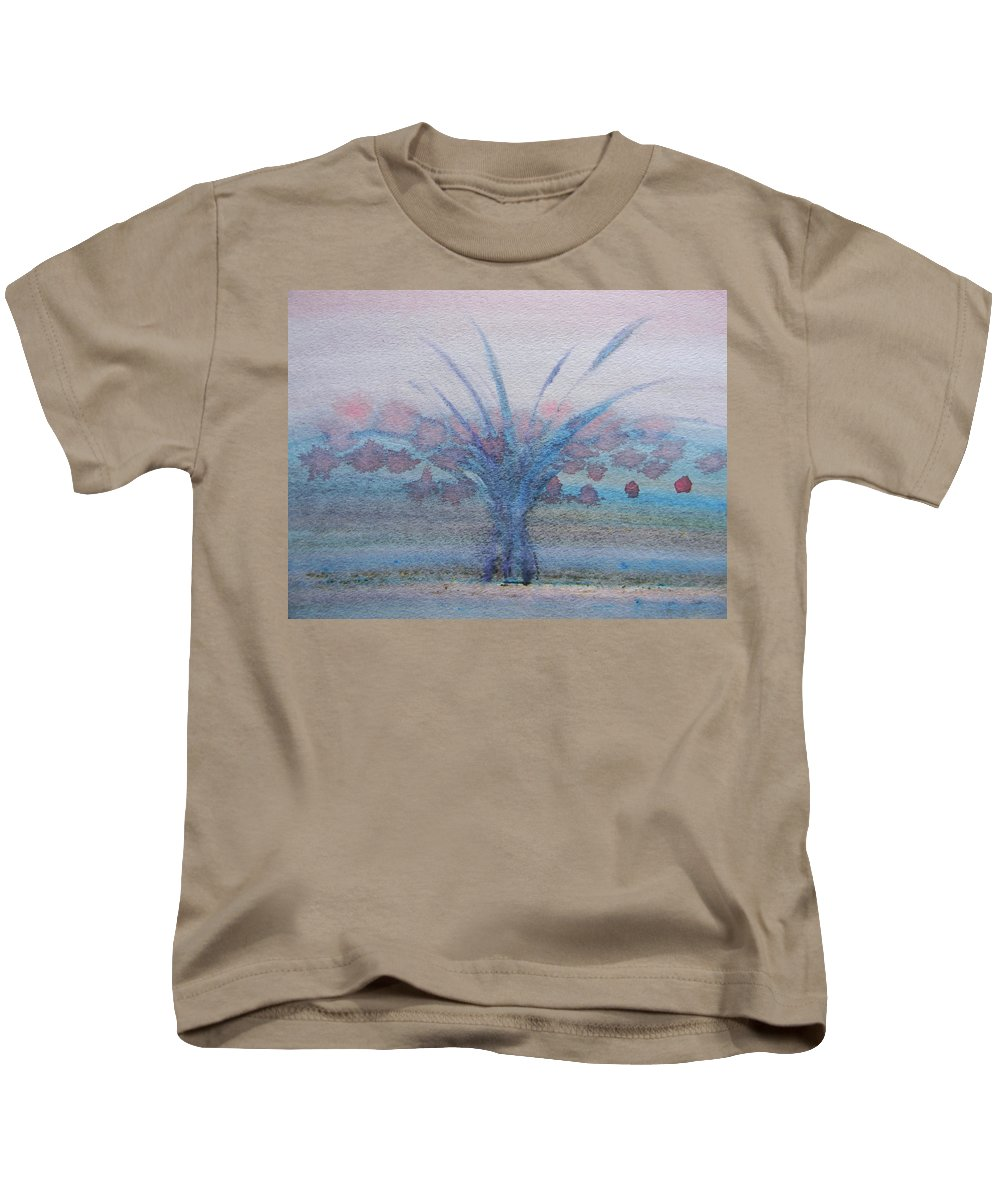 Marwan Kids T-Shirt featuring the painting Tree With Balls Four by Marwan George Khoury