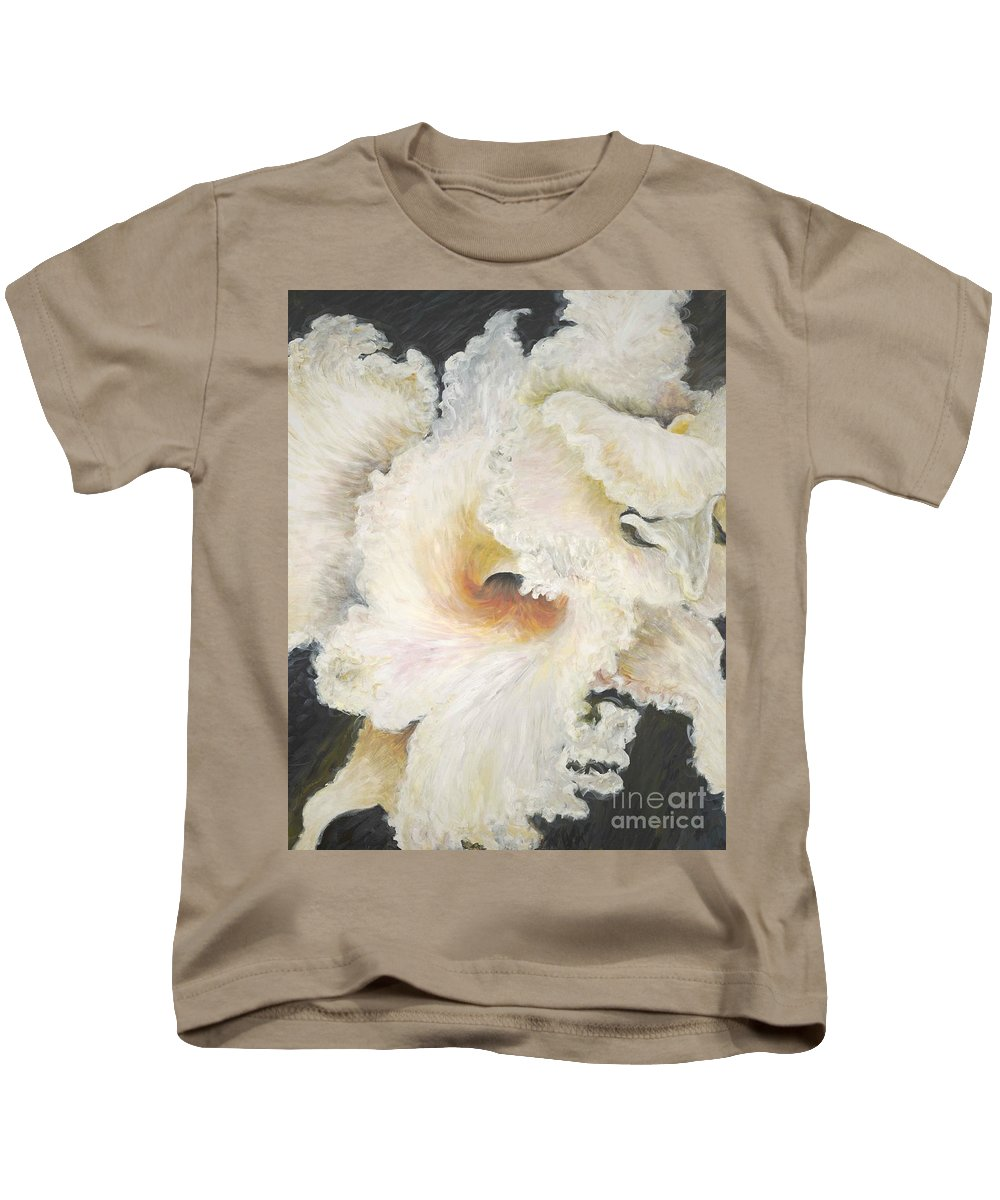Flower Kids T-Shirt featuring the painting Tropical Flowers by Nadine Rippelmeyer