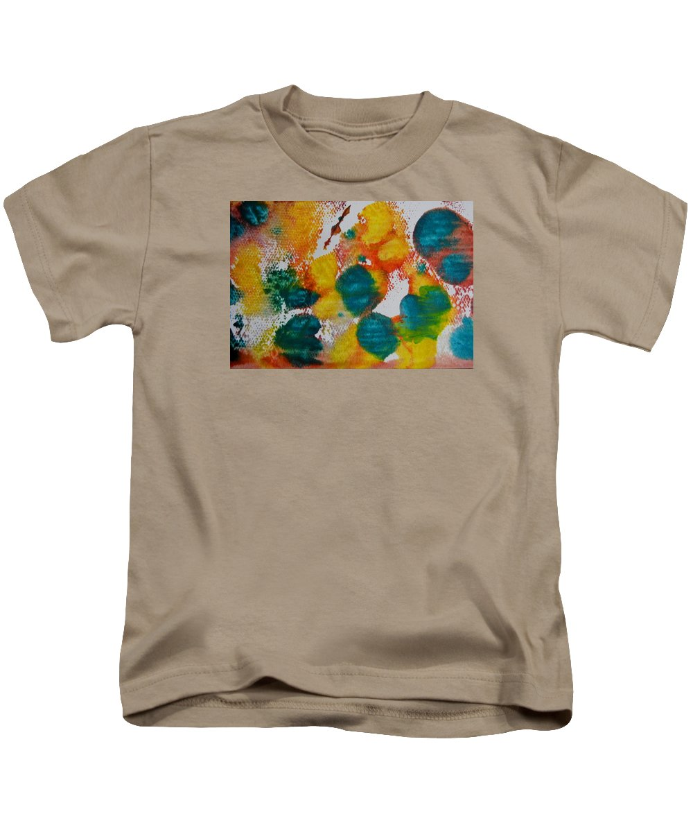Abstract Kids T-Shirt featuring the painting Turquoise Blue by Kruti Shah