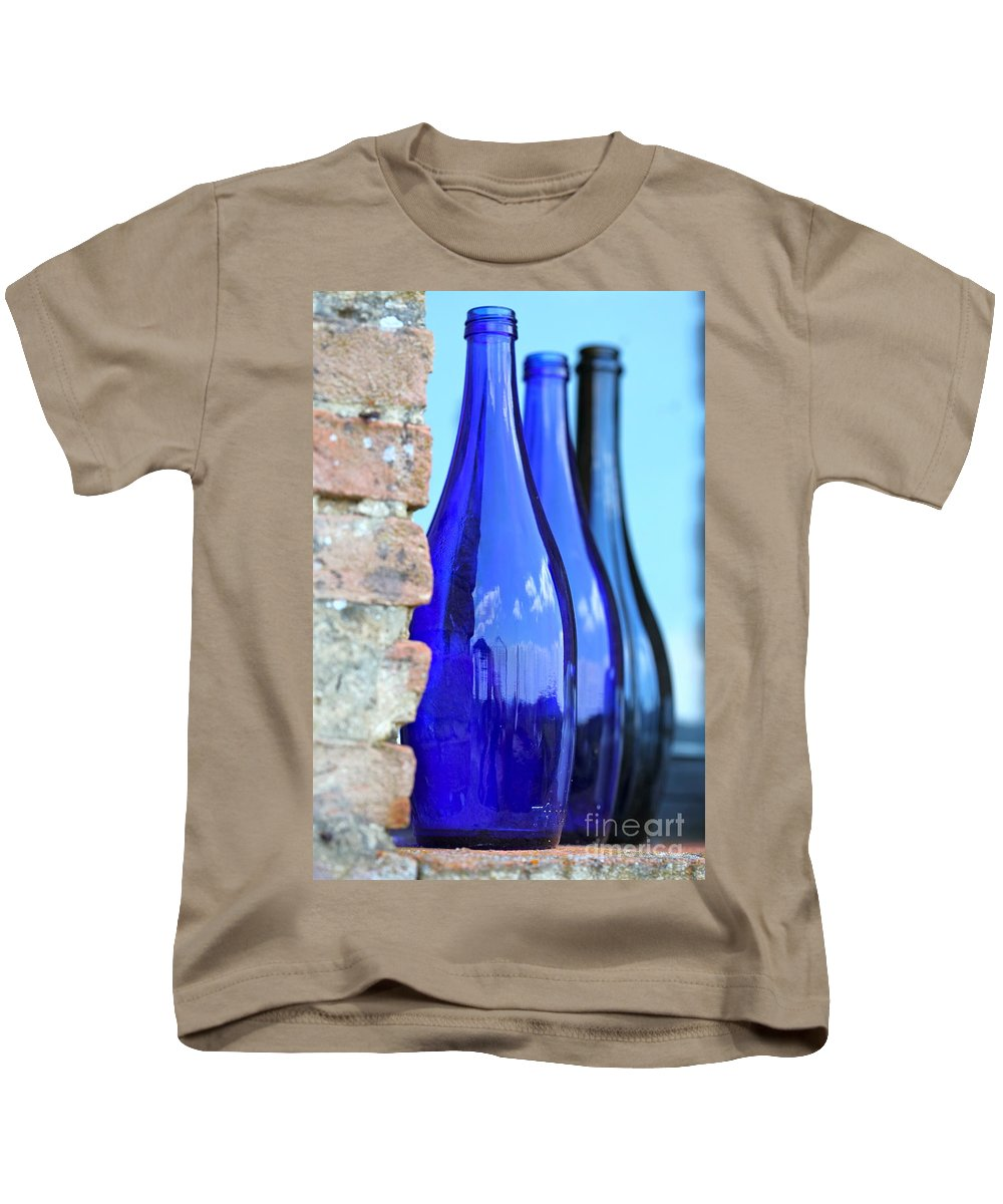 Blue Kids T-Shirt featuring the photograph Tuscan Blue Reflections by Nadine Rippelmeyer