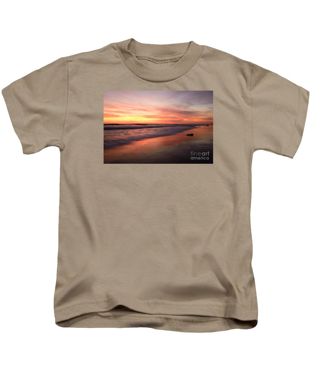 Landscapes Kids T-Shirt featuring the photograph Encinitas Waves by John F Tsumas