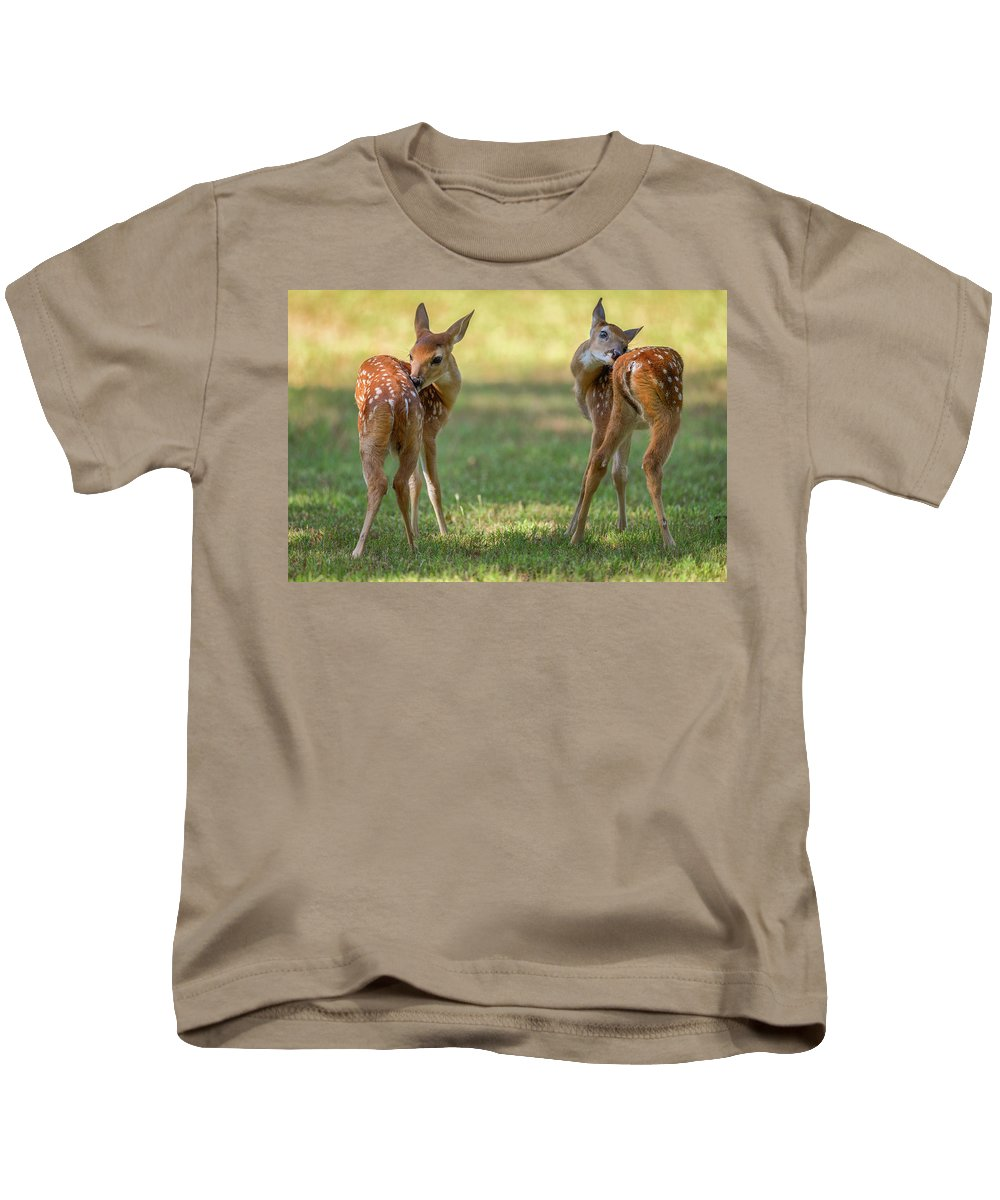 Georgia Kids T-Shirt featuring the photograph Twins by Charlie Choc